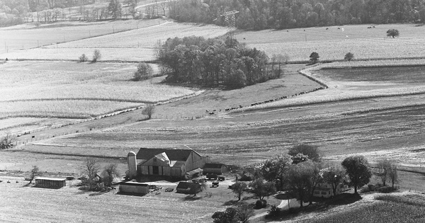 Vintage Aerial photo from 1972 in Cecil County, MD