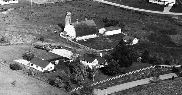 Vintage Aerial photo from 1972 in Jackson County, MI