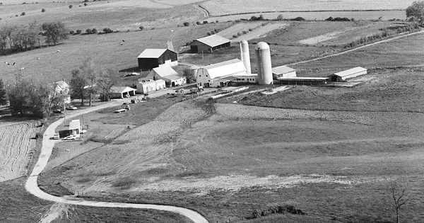Vintage Aerial photo from 1980 in Spencer County, KY