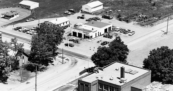 Vintage Aerial photo from 1974 in Lenawee County, MI
