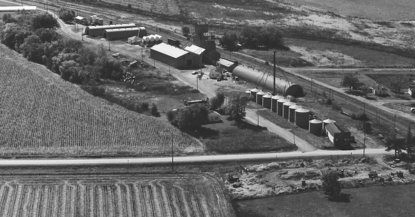 Vintage Aerial photo from 1975 in Hardin County, IA