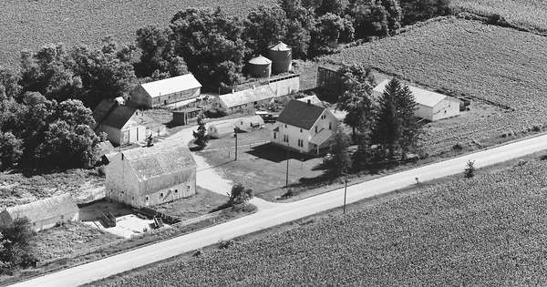 Vintage Aerial photo from 1980 in Franklin County, IA