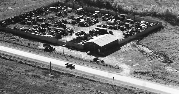 Vintage Aerial photo from 1973 in Olmsted County, MN