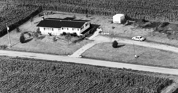 Vintage Aerial photo from 1983 in Washington County, IL