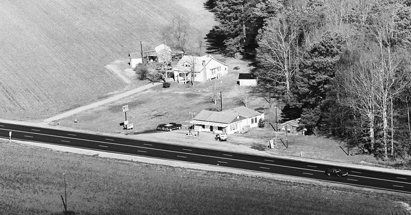 Vintage Aerial photo from 1983 in Sussex County, VA