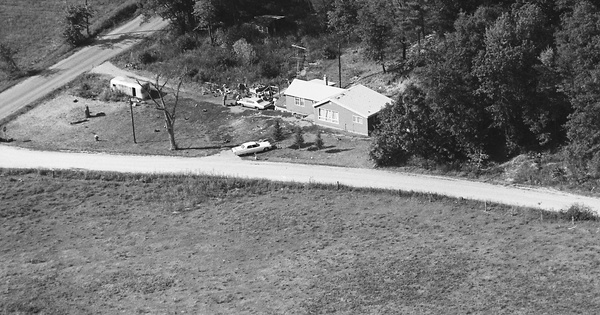 Vintage Aerial photo from 1976 in Juneau County, WI