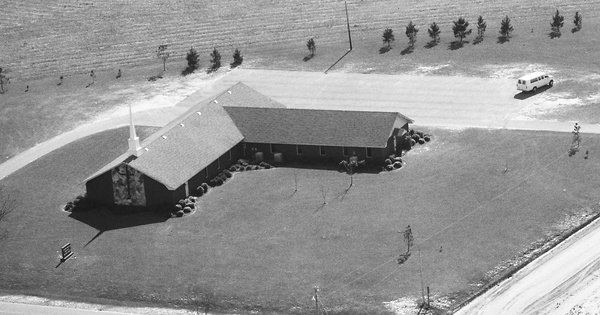 Vintage Aerial photo from 1990 in Dooly County, GA