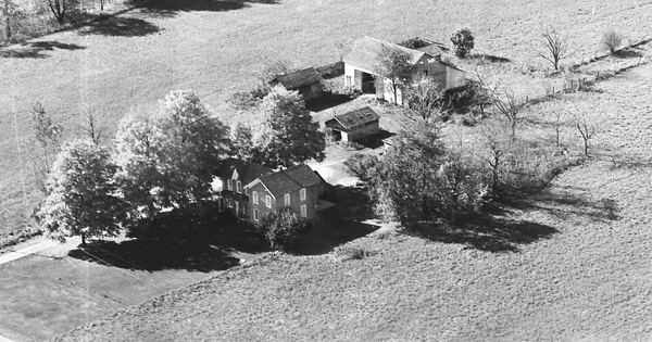 Vintage Aerial photo from 1969 in Branch County, MI