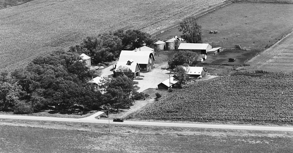 Vintage Aerial photo from 1975 in Winnebago County, IA