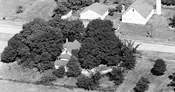 Vintage Aerial photo from 1970 in Johnson County, IN
