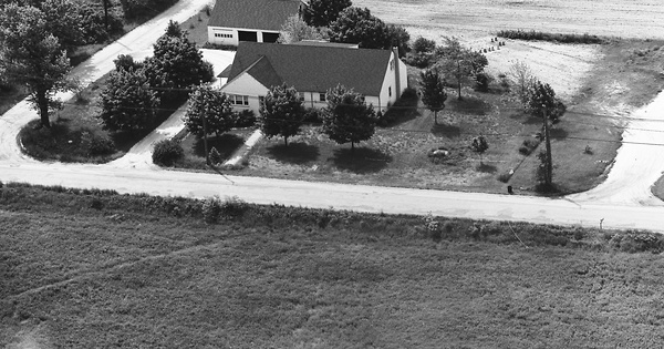 Vintage Aerial photo from 1965 in Burlington County, NJ