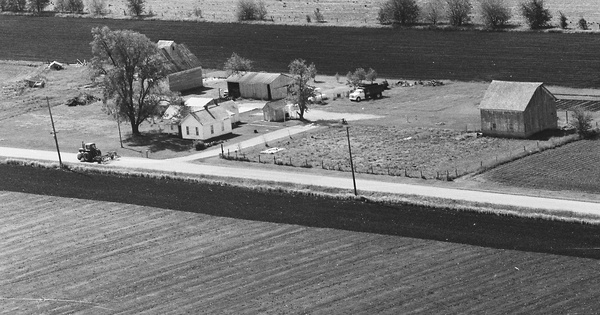 Vintage Aerial photo from 1983 in Logan County, IL