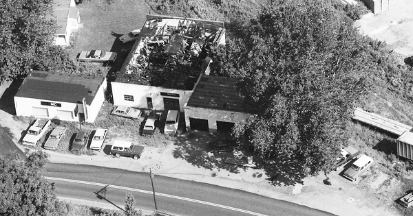 Vintage Aerial photo from 1990 in Braxton County, WV