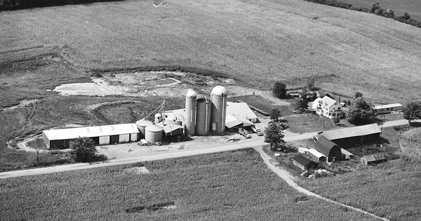 Vintage Aerial photo from 1982 in Cayuga County, NY