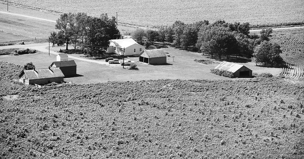Vintage Aerial photo from 1978 in Kossuth County, IA