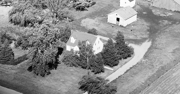 Vintage Aerial photo from 1971 in Sac County, IA