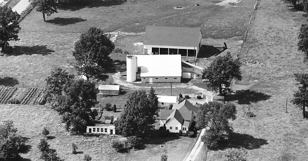 Vintage Aerial photo from 1971 in Hamilton County, IN