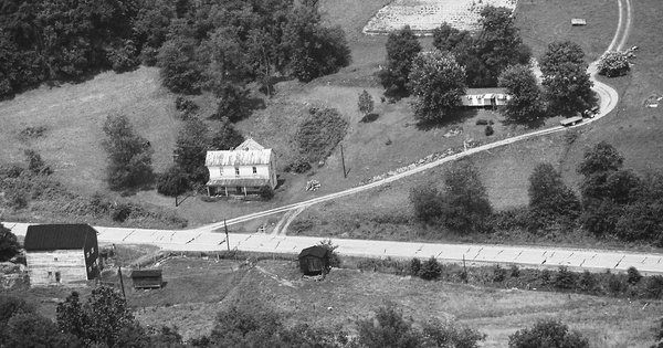 Vintage Aerial photo from 1984 in Greene County, PA