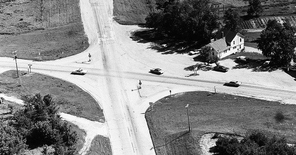 Vintage Aerial photo from 1972 in Kane County, IL
