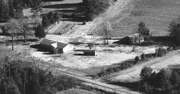 Vintage Aerial photo from 1983 in White County, AR