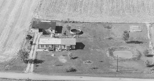 Vintage Aerial photo from 1980 in Franklin County, IL