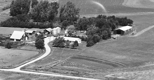 Vintage Aerial photo from 1977 in Nemaha County, KS