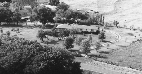 Vintage Aerial photo from 1983 in Osage County, KS