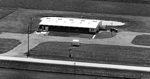 Vintage Aerial photo from 1964 in Carroll County, IN