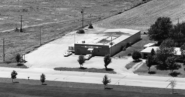 Vintage Aerial photo from 1977 in Brown County, KS