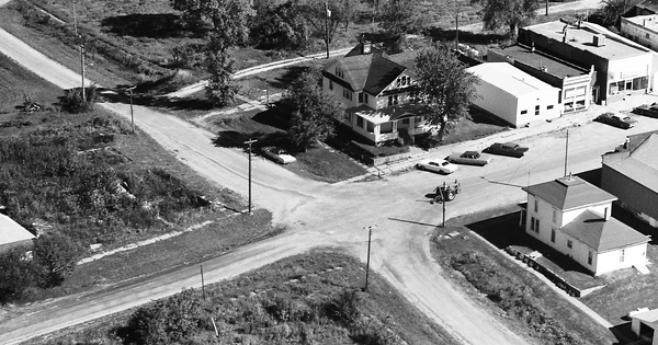 Vintage Aerial photo from 1973 in Poweshiek County, IA