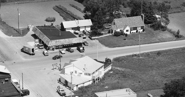 Vintage Aerial photo from 1984 in Alpena County, MI