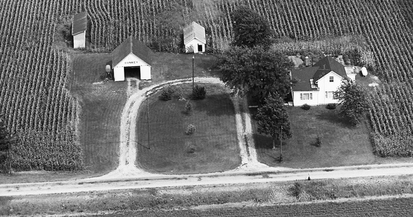 Vintage Aerial photo from 1970 in Wood County, OH