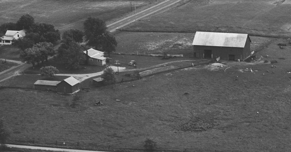 Vintage Aerial photo from 1968 in Morrow County, OH