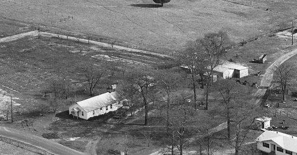 Vintage Aerial photo from 1983 in Wood County, TX