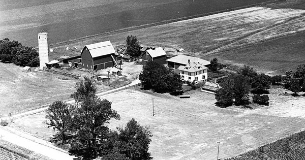 Vintage Aerial photo from 1965 in LaSalle County, IL