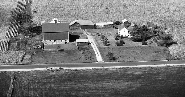 Vintage Aerial photo from 1976 in Sauk County, WI
