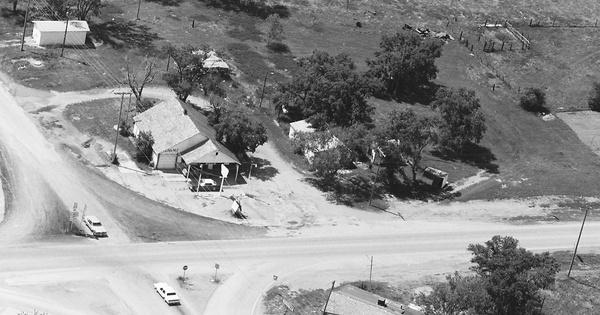 Vintage Aerial photo from 1986 in Comanche County, OK