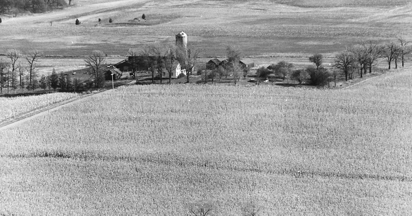 Vintage Aerial photo from 1974 in Kenosha County, WI