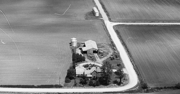 Vintage Aerial photo from 1982 in Coles County, IL