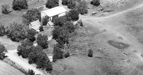 Vintage Aerial photo from 1988 in Chariton County, MO