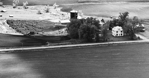 Vintage Aerial photo from 1976 in Jasper County, IA