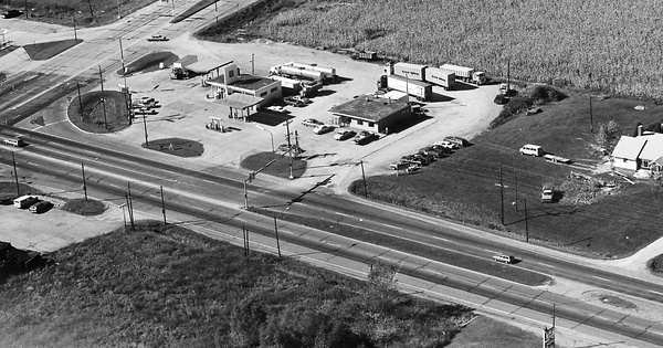 Vintage Aerial photo from 1981 in Marshall County, IN