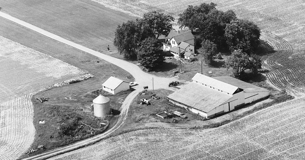 Vintage Aerial photo from 1983 in Tippecanoe County, IN