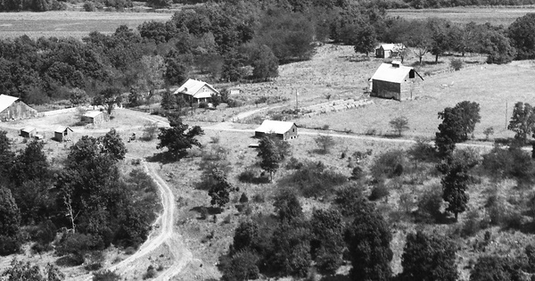 Vintage Aerial photo from 1983 in Osage County, MO