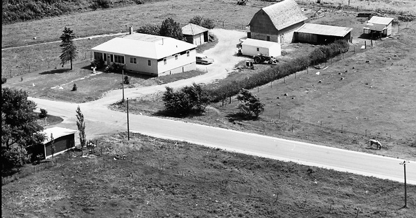 Vintage Aerial photo from 1968 in Fillmore County, MN