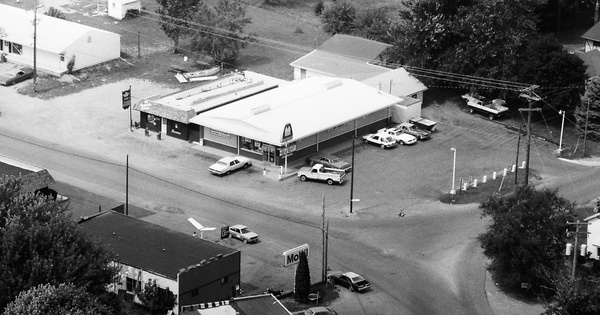 Vintage Aerial photo from 1982 in Lenawee County, MI