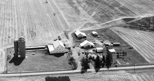 Vintage Aerial photo from 1991 in Hancock County, OH