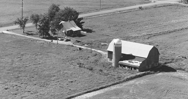 Vintage Aerial photo from 1978 in Clark County, WI