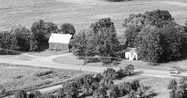 Vintage Aerial photo from 1984 in Wayne County, NY