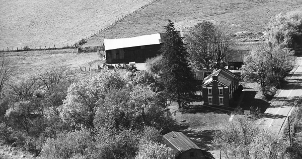 Vintage Aerial photo from 1973 in Noble County, OH